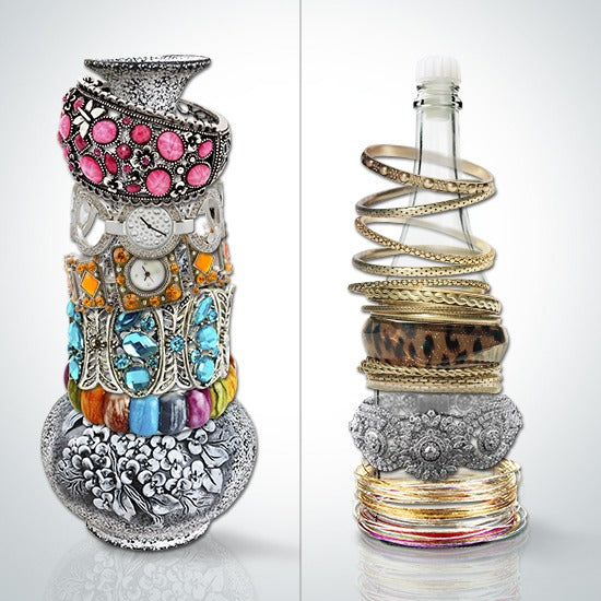 10 creative ideas to organize your jewelry bohemian for Waste out of best from bangles