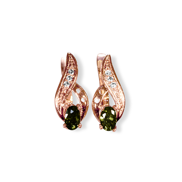 Earrings Leo Birthstone - Oksinya