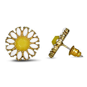 Stud Earrings Chamomile - Oksinya - 1