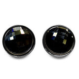 Stud Earrings Black Perfection - Oksinya - 2
