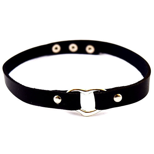 Choker Leather & Heart - Oksinya