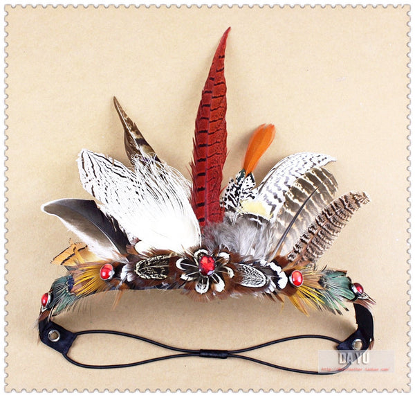Indian Feather Hair Crown