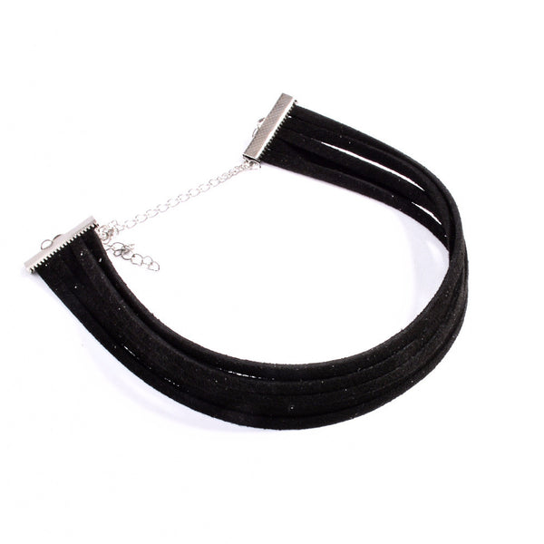 5 Layers Black Velvet Choker