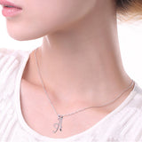 Capital Letter Crystal Pendant Necklace