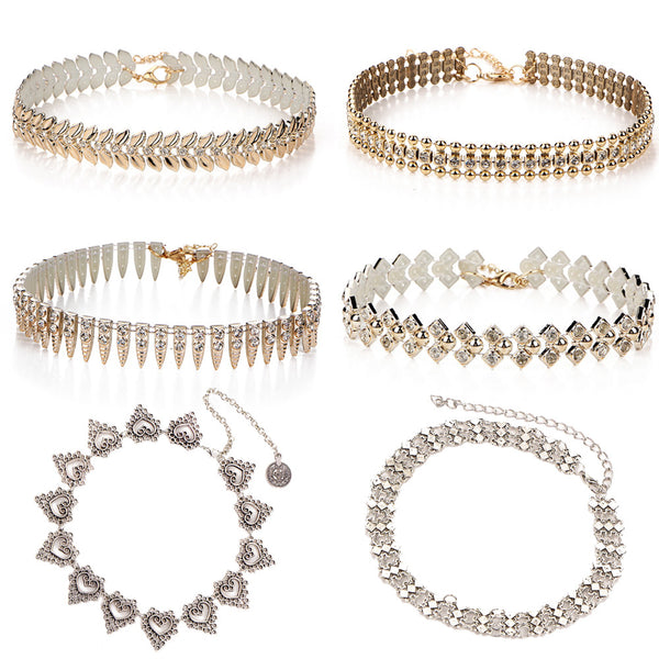 6 Fancy Choker Necklaces