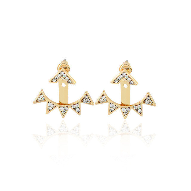 Small Triangle Cuff Earrings