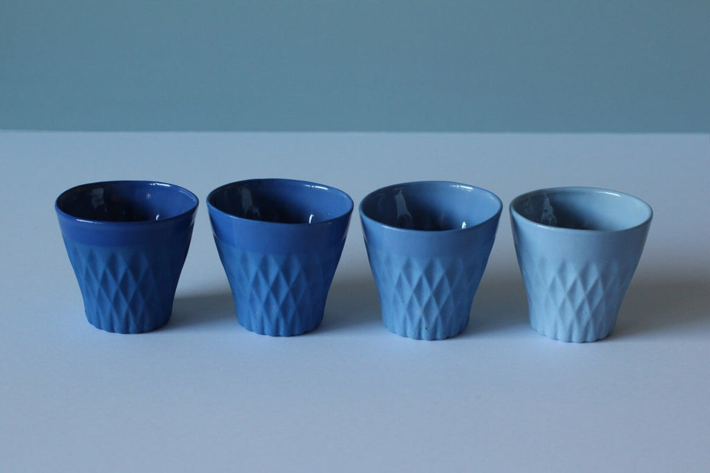 CRYSTAL PALACE PORCELAIN CUP X4 INDIGO COLLECTION de Priscillia Ermer
