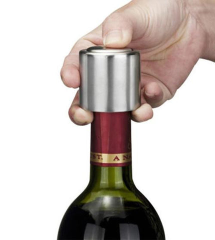Stainless Steel Vacuum Wine Sealer - 25 Main Street  - 1