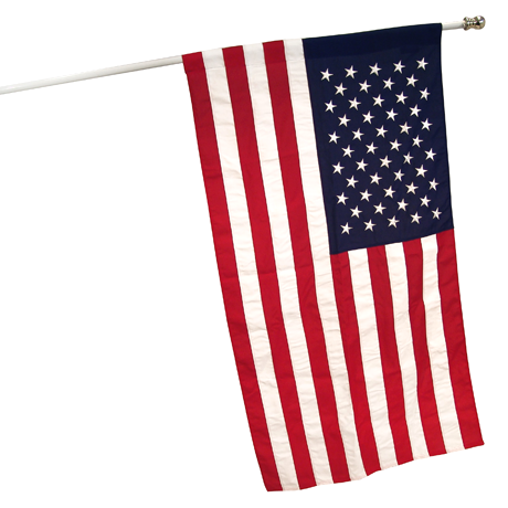 3' x 5' Polyester American Flag with Metal Grommets - 25 Main Street  - 1