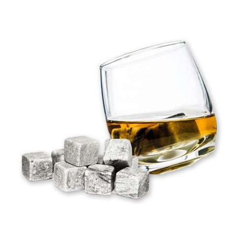 9 Pack Multi-Colored Whiskey Ice Stones - 25 Main Street