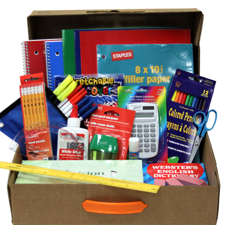 Junior High & High School Back-To-School Supply Kit Box - Assorted Colors (Grades 6-12) - 25 Main Street