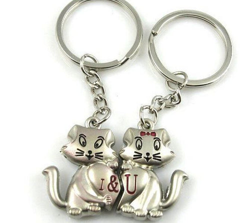 Cat Lover Key Chain Pair - 25 Main Street