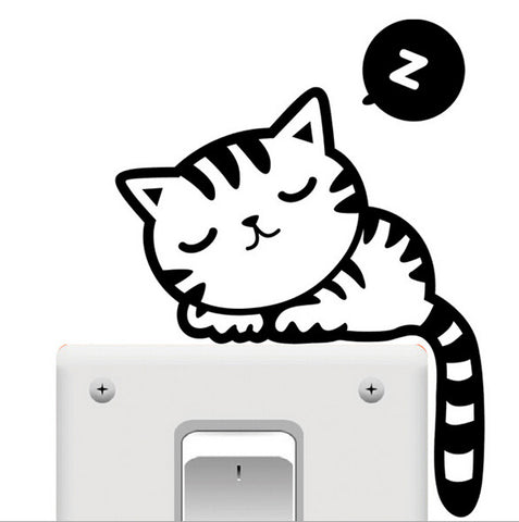 Sleepy Cat Switch Sticker - 25 Main Street  - 1