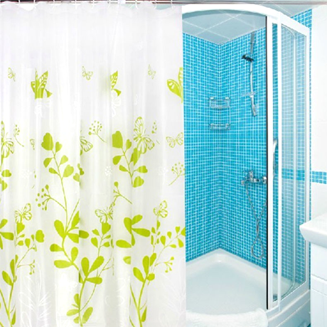 Waterproof Fabric Shower Curtain - Butterfly Design - 25 Main Street