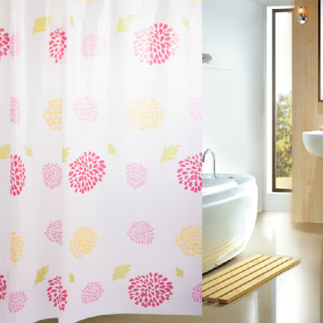 Fabric Shower Curtain - Fireworks Design - 25 Main Street