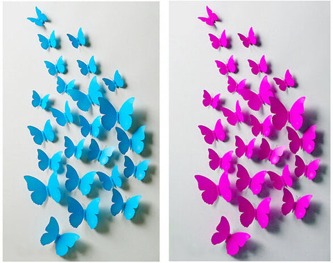 12pcs 3D Butterfly Wall Stickers - 25 Main Street  - 1