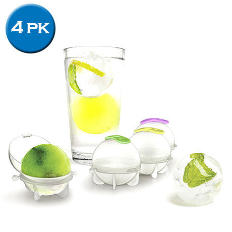 4-Pack Ice Ball Molds - 25 Main Street  - 1
