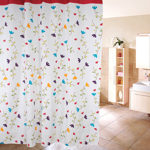 Waterproof Fabric Shower Curtain - Lanzhi Flower Design - 25 Main Street