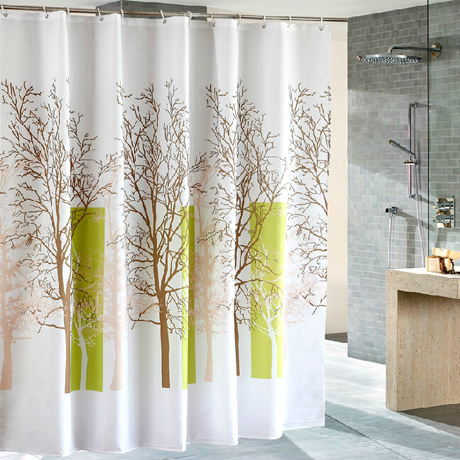 Waterproof Fabric Shower Curtain - Multiple Trees Design - 25 Main Street