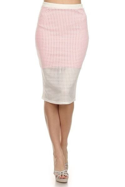 Skirt OVER LAZER CUT OUT - Yolaboutique