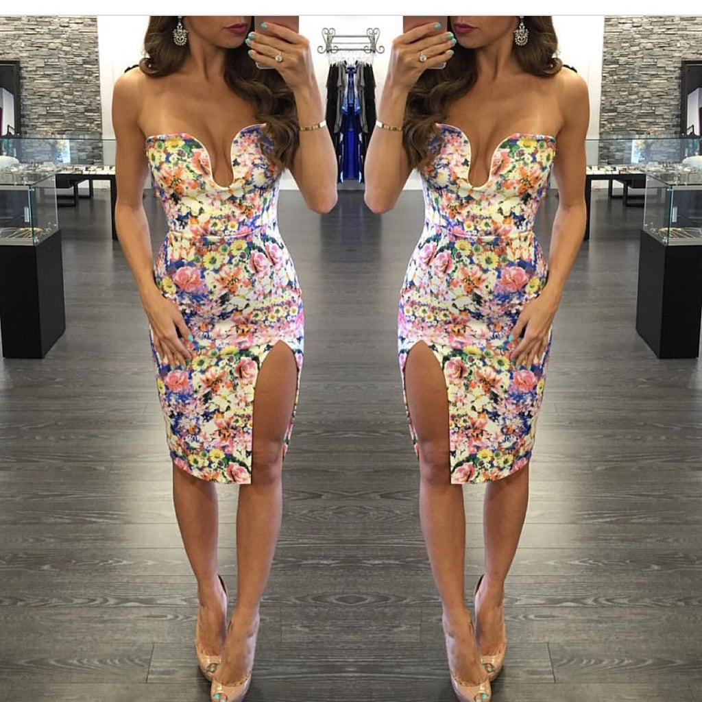 small  Floral Bodycondress - Yolaboutique