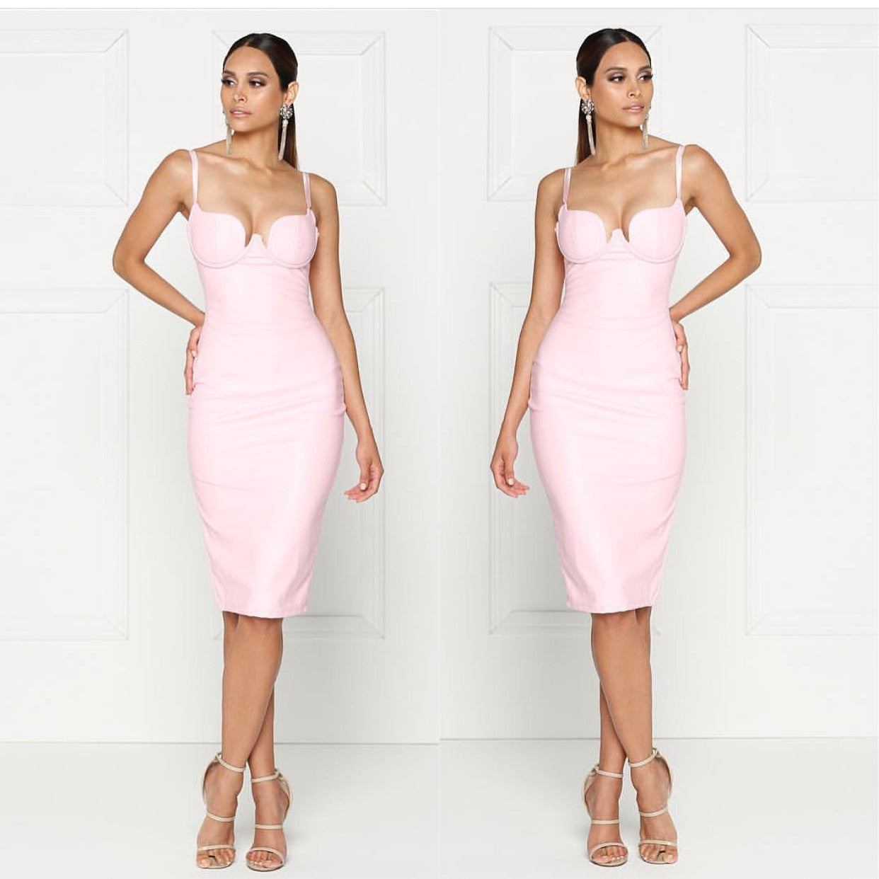 Kim pink LEATHERETTE - Yolaboutique
