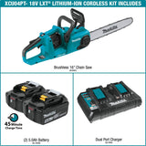 "Makita XCU04PT LXT Lithium-Ion Brushless Cordless 16"" Chain Saw Kit"