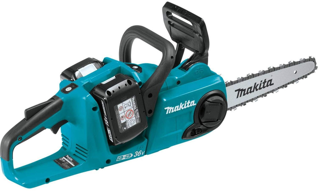 "Makita XCU03PT1  LXT Lithium-Ion Brushless Cordless 14"" Chain Saw Kit with 4 Batteries"