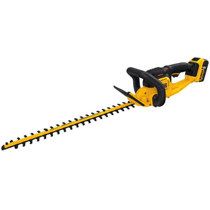 DEWALT 22 in. 20V MAX Lithium-Ion Cordless Hedge Trimmer with (1) 5.0Ah Battery and Charger Included