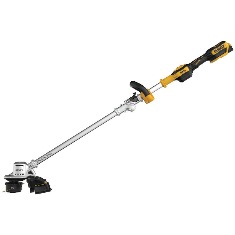 "DEWALT 14"" 20V MAX Lithium-Ion Brushless Cordless String Trimmer with (1) 5.0Ah Battery and Charger Included"