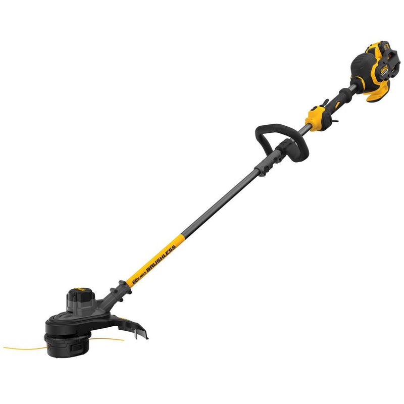"DEWALT 15"" 60V MAX Lithium-Ion Cordless FLEXVOLT Brushless String Grass Trimmer with (1) 3.0Ah Battery and Charger Included"