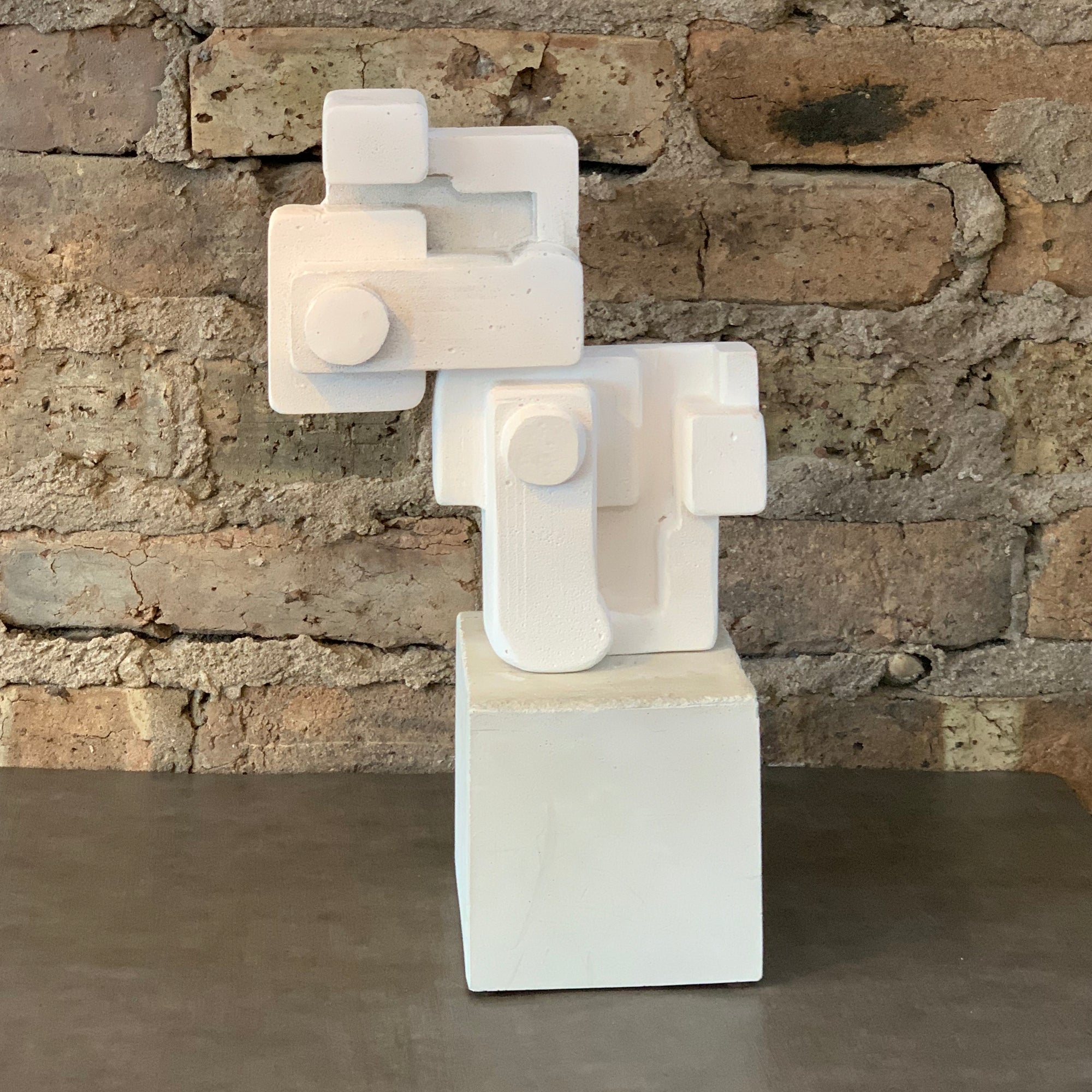 Coupling Brutalist Sculpture by Larry Fulton