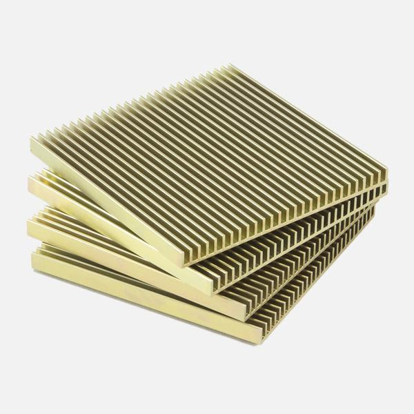 Fin Coasters, Gold set/4