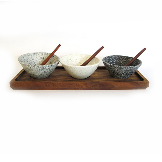 Resin Terrazzo Serving Set