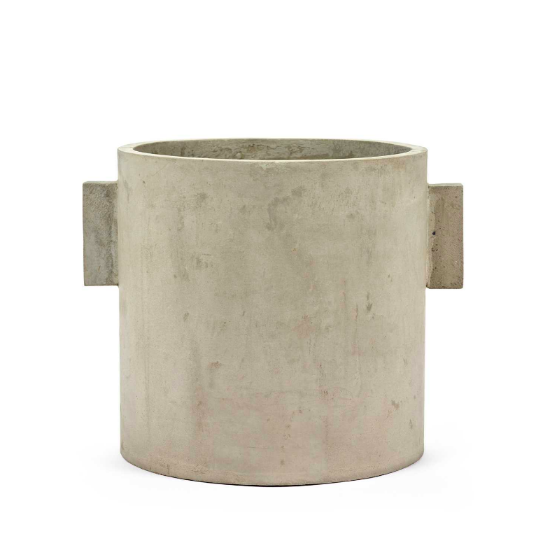 Modern Concrete Straight Handle Pot -Extra Large