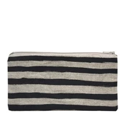 Small Pouch - Black Stripes