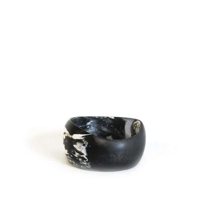 Resin Wave Cuff Bracelet Large - Storm