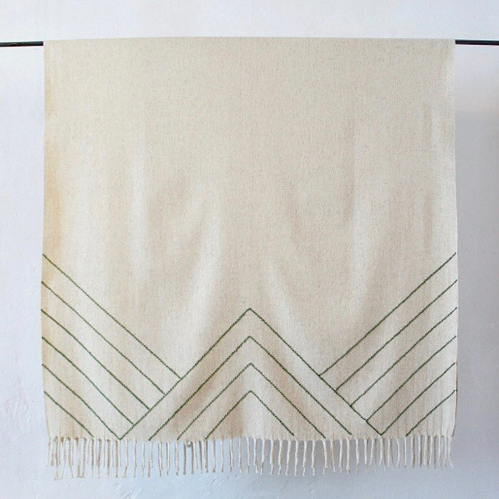 Stella Lines Embroidered Blanket