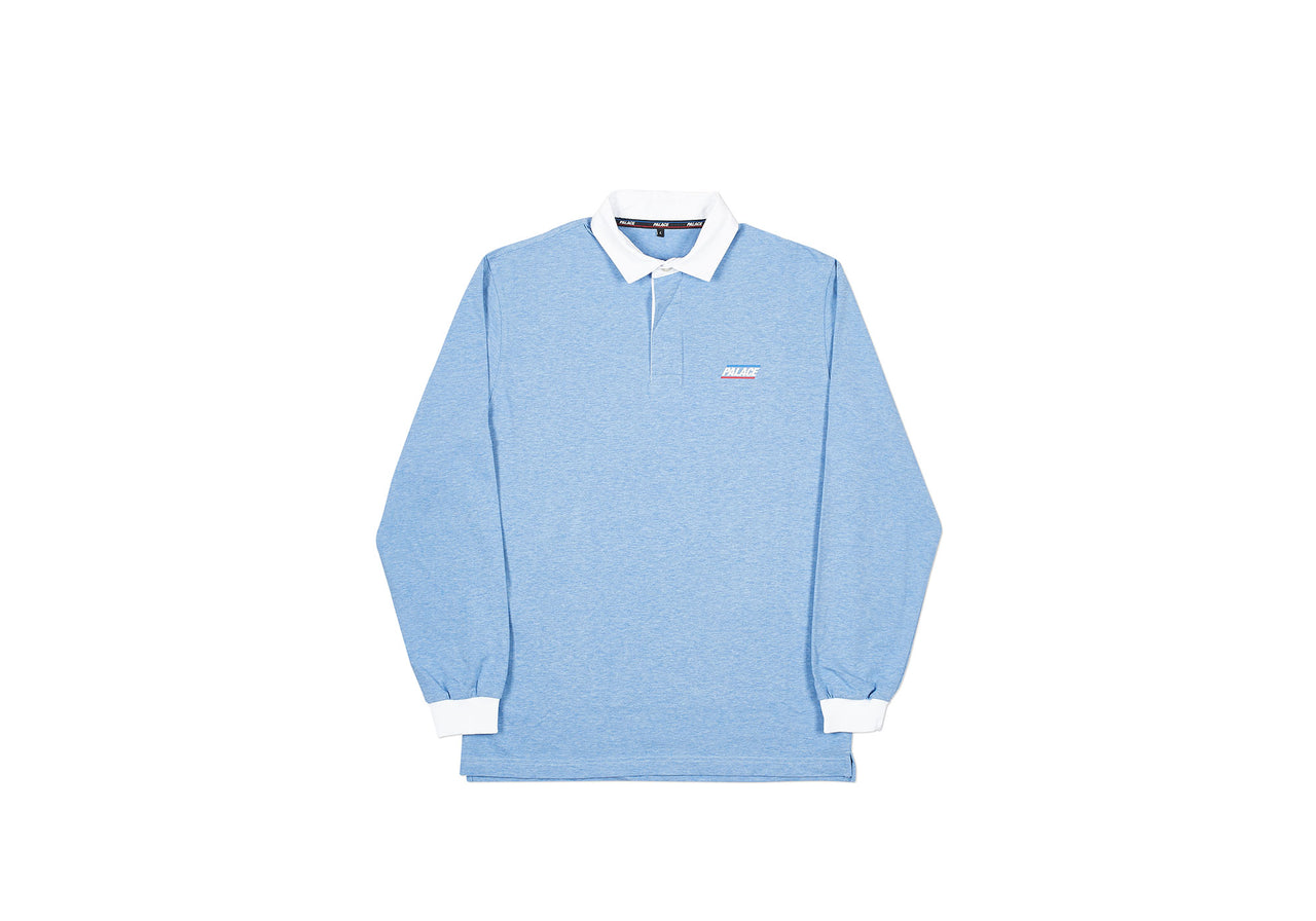BASICALLY A RUGBY TOP CLASSIC BLUE MARL