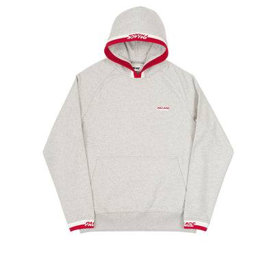 SPLITTER HOOD GREY MARL / RED-WHITE