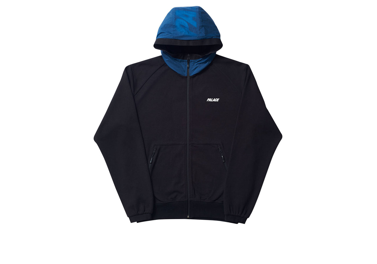 OVERLAY TRACK TOP BLACK / BLUE