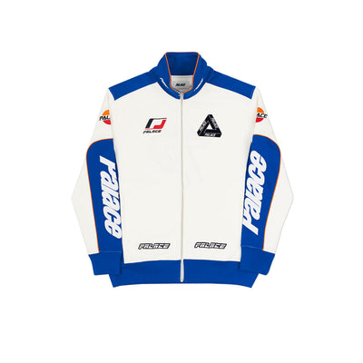 YAMAN TRACK TOP WHITE / BLUE