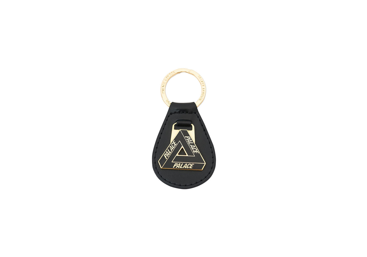 TRI FERG LEATHER KEYRING BLACK