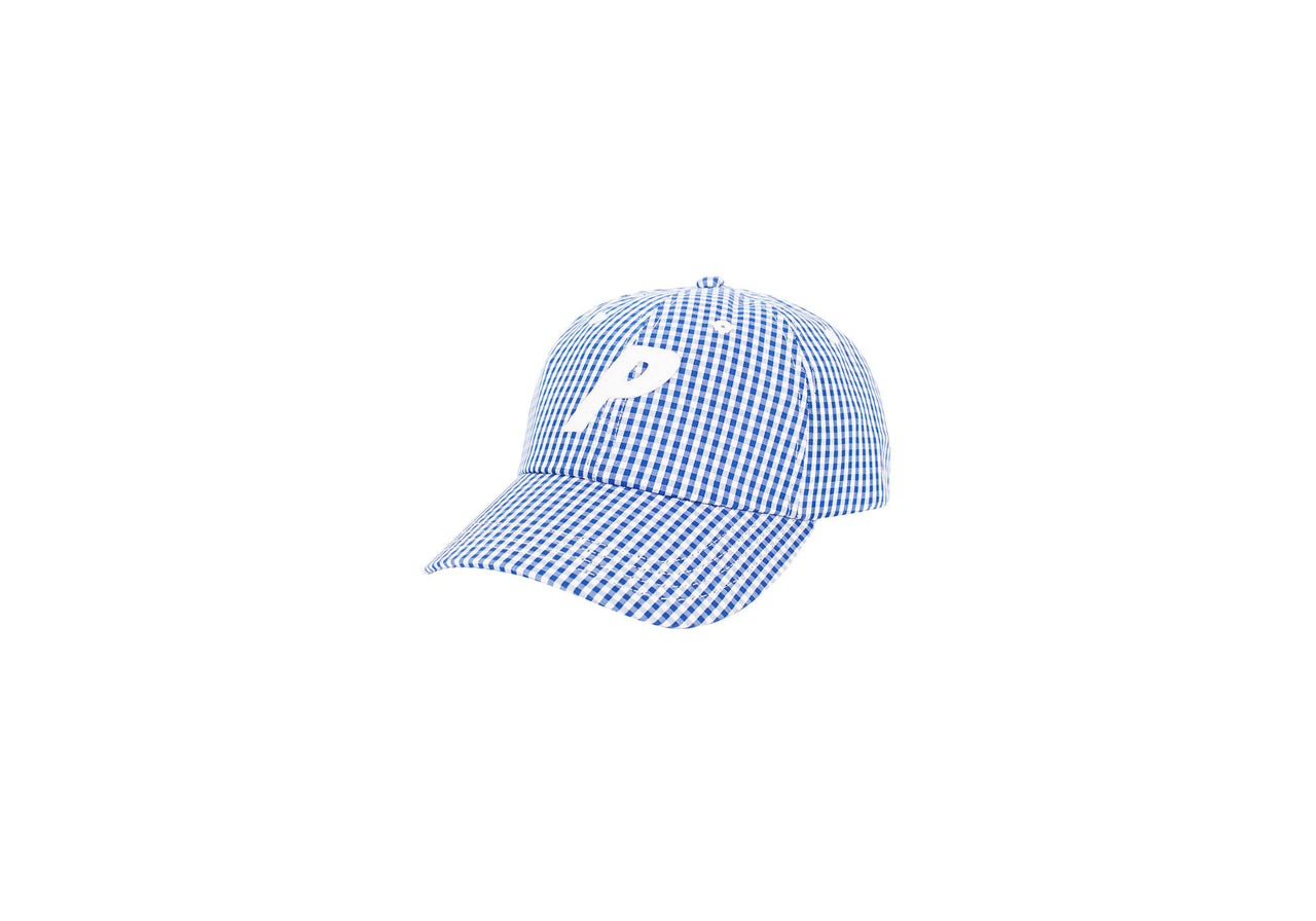 P 6-PANEL BLUE GINGHAM