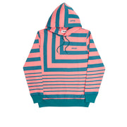 ANGLO HOODY PINK / GREEN