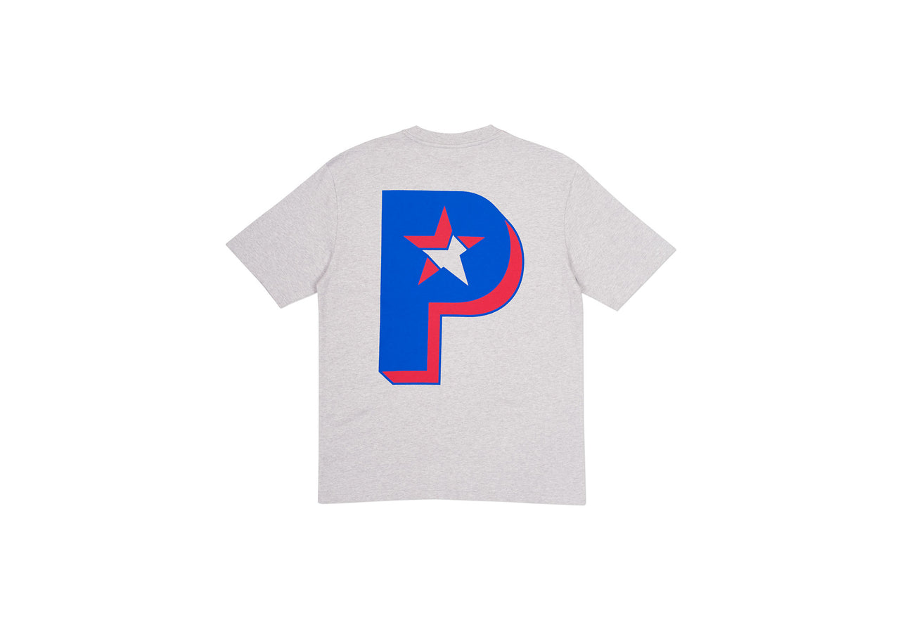 P STAR T-SHIRT GREY MARL