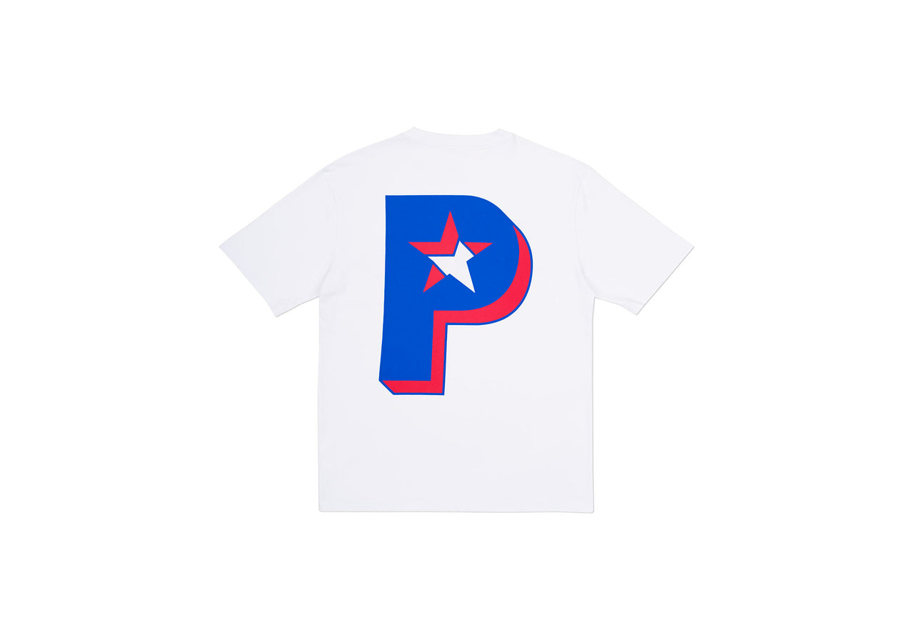 P STAR T-SHIRT WHITE