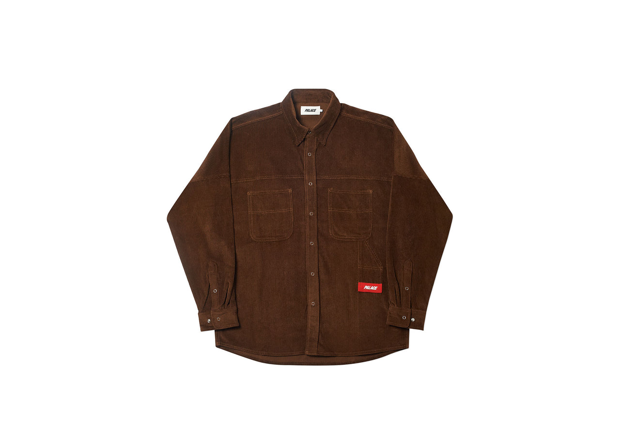S-CORD SHIRT BROWN