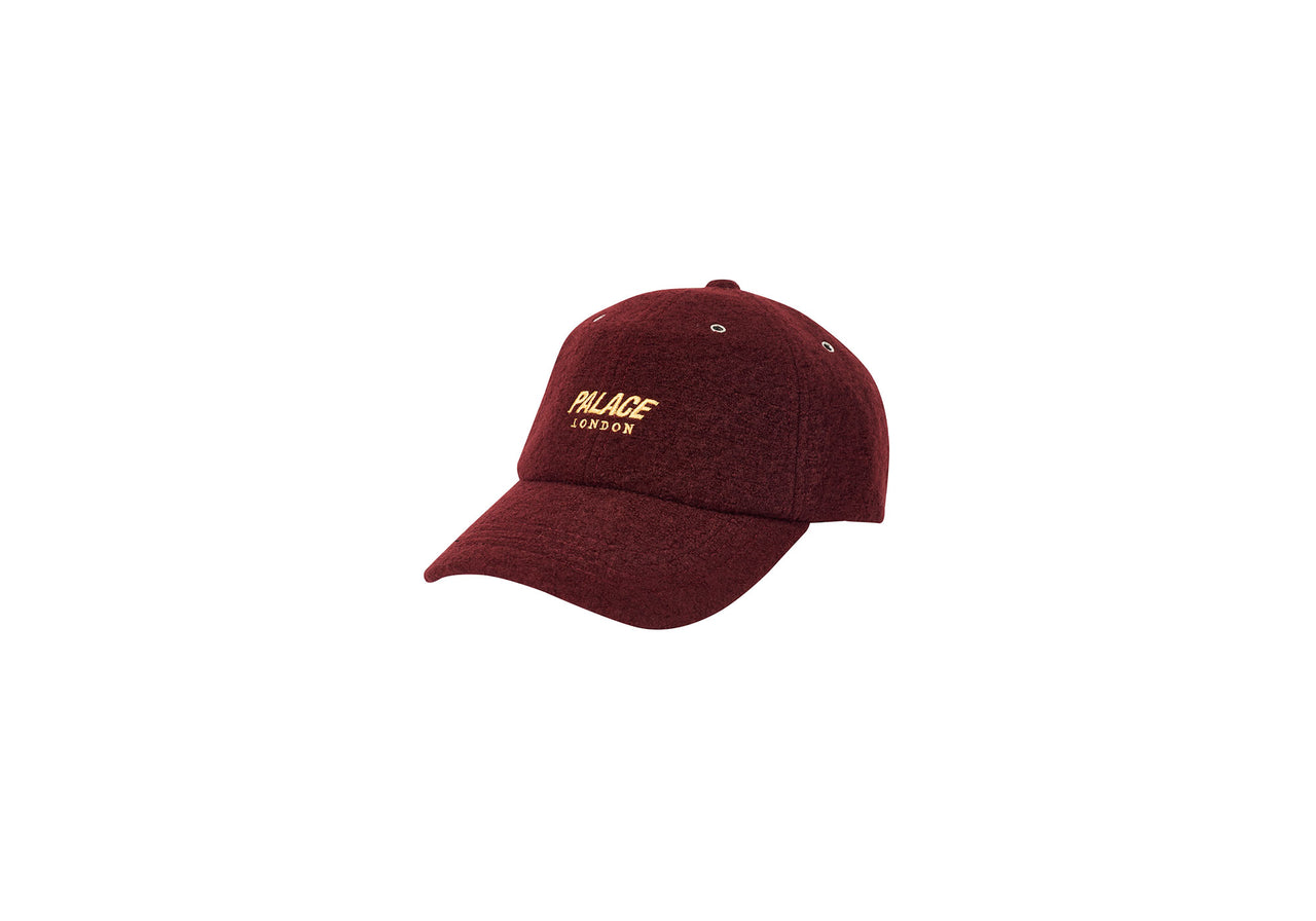 WOOL-UP 6-PANEL BURGUNDY