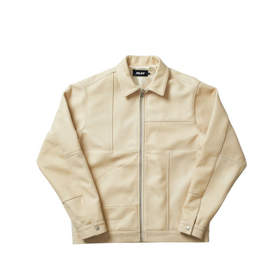 LEATHER PANEL JACKET CREAM